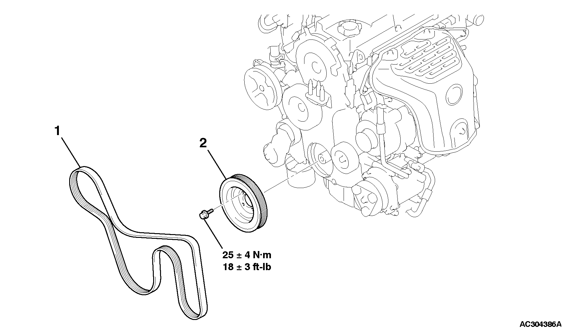 service manual  2009 mitsubishi endeavor remove belt