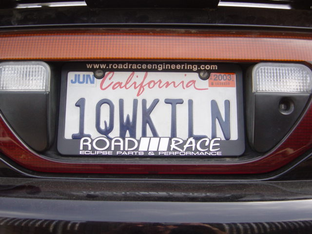 roadrace engineerings  license plate frame